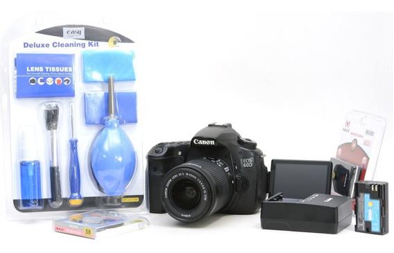 Canon 60d + 18-55mm + Brindes