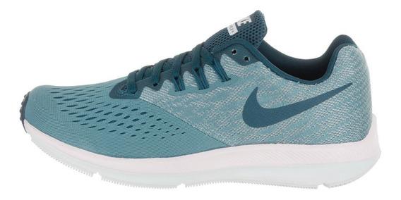 Tenis Deportivo Mujer Nike Zoom Winflo 4 Azul 403 Original!