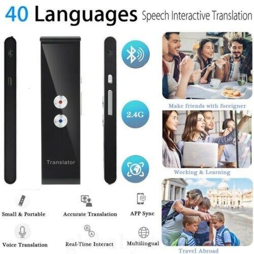 Tradutor Inteligente Voz Do Portátil T8 Em Dois Maneira Real