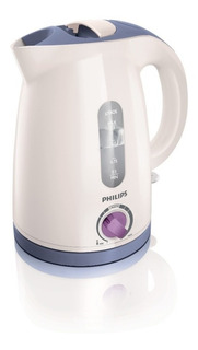 Pava eléctrica Philips HD4691 Viva Collection blanca y lavanda 220V 1.2L