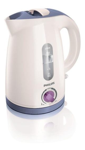 Pava eléctrica Philips HD4691 Viva Collection blanca y lavanda 220V 1.2L