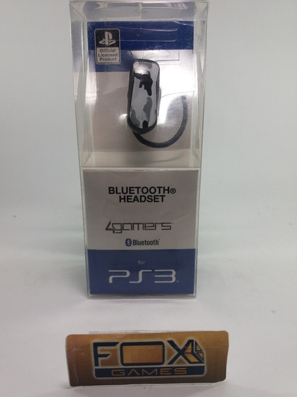 Headset Bluetooth P/ Playstation 3 Sem Fio Ps3 4gamers