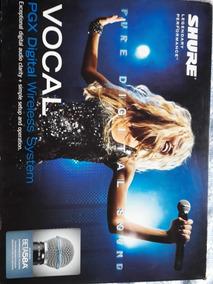 Microfone De Mão Sem Fio Shure Beta 58a Pgxd24 -profissional