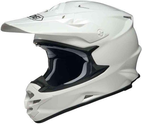 Casco Motocross Enduro Shoei Vfx-w Blanco Importado 6 Cuotas