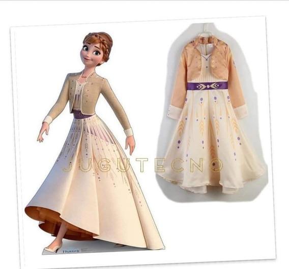 Hermoso Vestido Anna Frozen 2 Importado