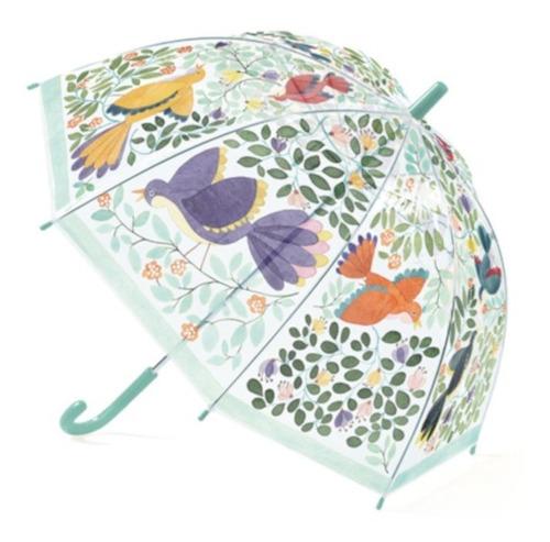 Paraguas Transparente Flores Y Pájaros Djeco Dd04804