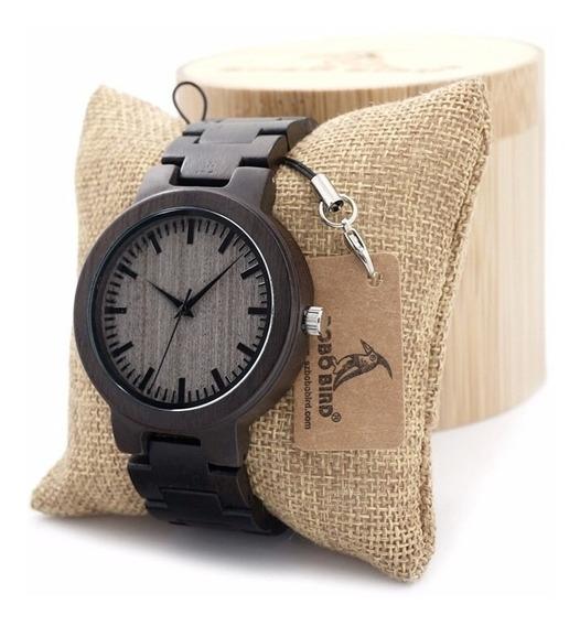 Reloj De Madera Bobo Bird 100% Original Remate W01