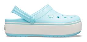Crocband Platform Clog Ice Blue/ice Blue