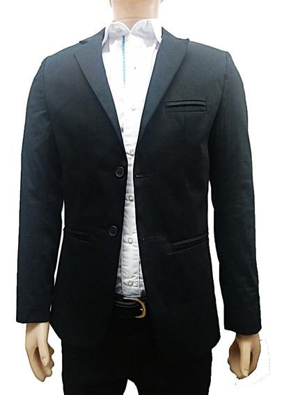 Saco Gabardina Hombre Blazer Entallado Slim Fit Vs Colores