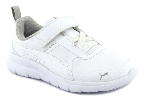 Zapatilla Puma Niño Flex Essential Slv Ps Blanco