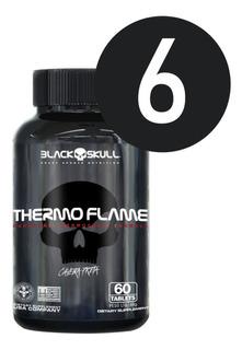 6x Termogênico Thermo Flame - Black Skull / Cafeína