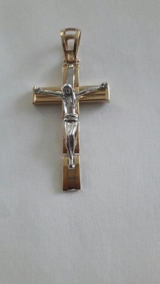Dije Cruz Con Cristo Oro Italiano 10k
