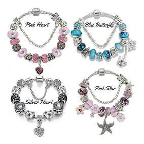 2 Pulseiras Completas Para Pandora Banhada Prata Promoção :)