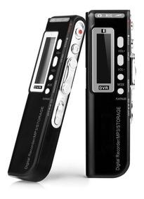 Gravador De Voz Digital Usb 8gb Mp3 Espião