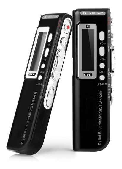 Gravador De Voz Digital Usb 8gb Espião Visor Lcd - 576 Horas