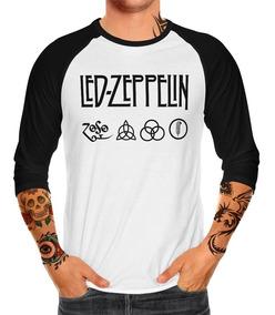Envío Gratis Playera Raglan Caballero Led Zeppelin Mod. 1