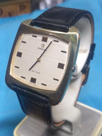 Elegante Reloj Vintage Omega De Ville Plaqué De Or Cal. 620