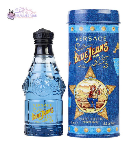 Perfume Versace Blue Jeans 75ml Original Garantia