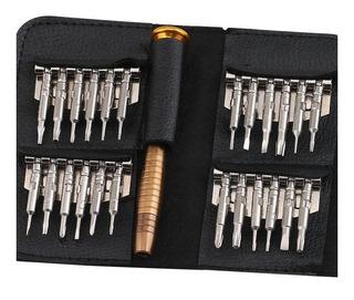 Kit Acessórios Micro Chaves Reparo 24 Pç P/ Trabalho Celular, Notebook, Relógio, Etc. = Frete Grátis