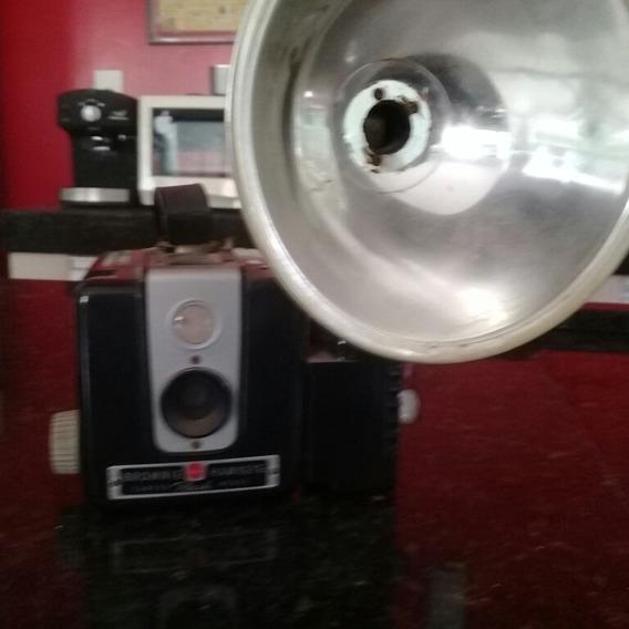 Câmera Antiga Kodak Brownie Hawkeye