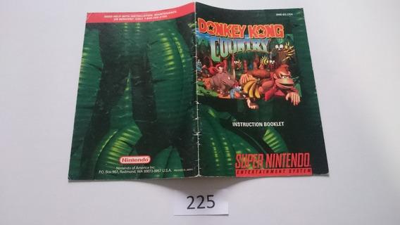 Manual Donkey Kong Country (snes) Original Frete $5 [0225]