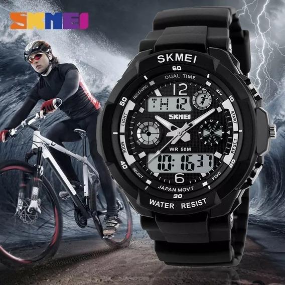 Relógio Skmei 0931 Digital E Analogico