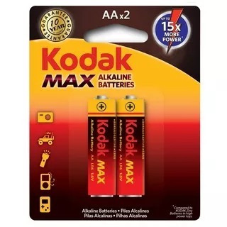 16 Pilhas Aa Alcalina Max Cart/2 Kodak Promoçãocomp.duracell