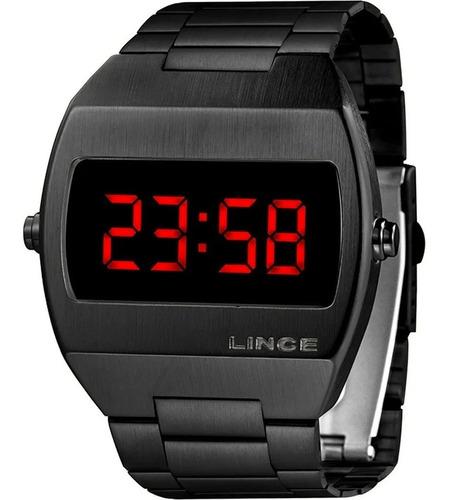 Relógio Masculino Lince Digital Preto Mdn4620lvxpx