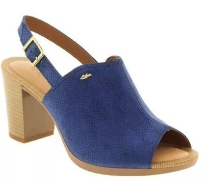 Sandália Feminina Salto Alto Peep Toe Azul Dakota Z1 Clique+