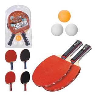 Kit 02 Raquetes Tenis Ping Pong 3 Bolinhas Promoção