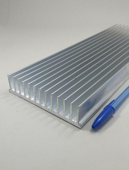 Perfil Dissipador Calor Aluminio 10,4cm Largura C/ 20cm