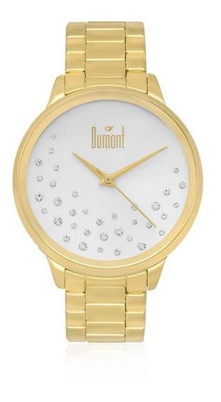 Relógio Dumont Analógico Feminino Dourado Du2036lsq/4k