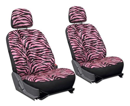 Kit De 2 Cubre Asientos Universales Para Autos Tipo Zebra