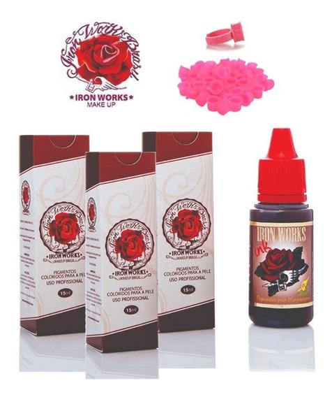 Kit 3 Pigmentos Iron Works Cor A Escolher + Brinde !!