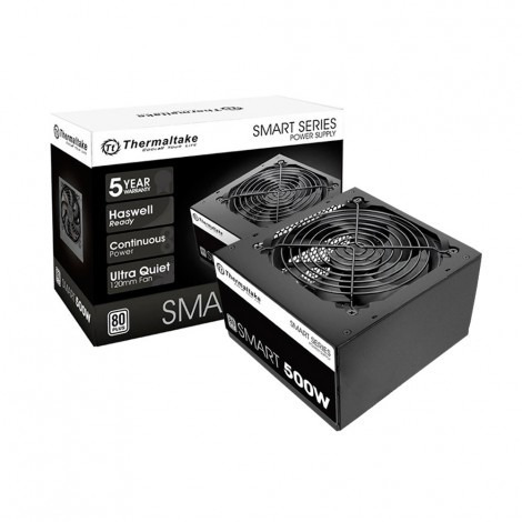 Fonte 500w Tt Smart Atx 80plus+ White Ps-spd-0500npcwbz-w