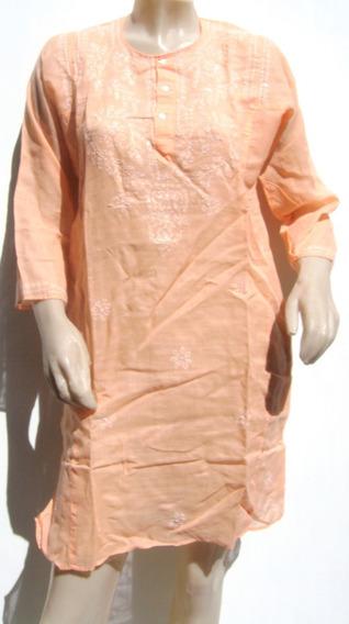 Var`s Vestido Tunica Camisola Kurta M Naranja Salmon-ana.mar