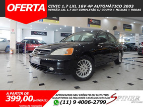 Honda Civic 1.7 Lxl 4p Automático Completão C/ Couro + Rodas