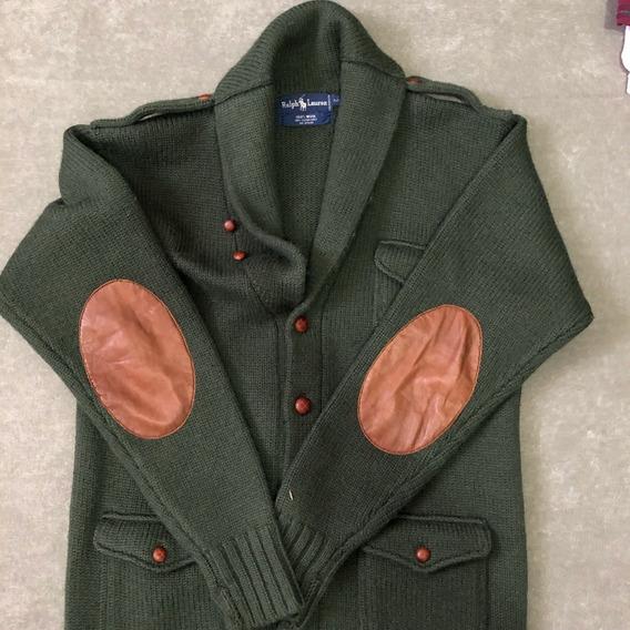 Sweter Polo Ralph Lauren Original Usado Color Verde Talla M