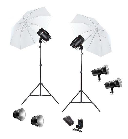 Kit Estudio Fotografico 500w Profissional Greika Argos 220v