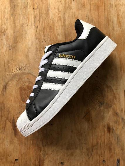 Zapatillas Superstar adidas Originales Negra Suela Blanca