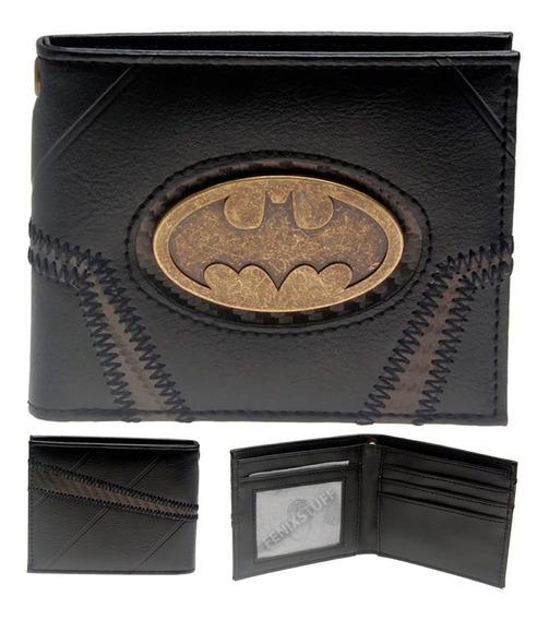 Batman Billetera Envio Gratis Dc Cartera Comics Negra Pvc