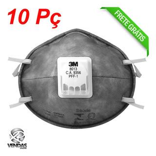 Máscara Respiradora P/ Poeira C/ Válvula 8013 C/10 Peças 3m