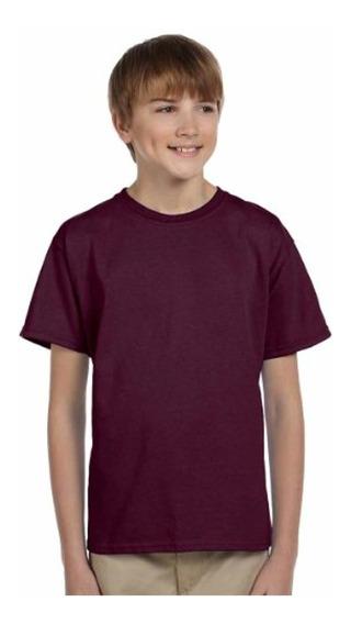 Camiseta Juvenil Heavyweight Blend, Maroon, Xl