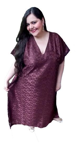 Kaftan Longo Festa Plus Size - Vestido Caftan Longa
