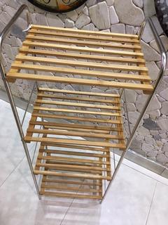 Organizador Baño Cocina Repisa 3 Estante Bambu Cuota S/inte