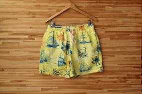 Shorts Masculino Praia Shorts Co. Estampa Marítima Semi Novo