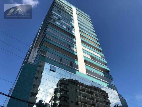 Imagem 1 de 30 de Apartamento Com 3 Dormitórios À Venda, 129 M² Por R$ 742.635 - Canto Do Forte - Praia Grande/sp - Ap2674