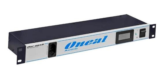 Régua Energia Oneal Oac-801d Digital 8+1 Tomadas Rack 19