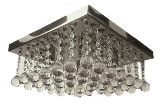 Lustres De Cristal Sala De Estar/jantar Base Inox 30x30