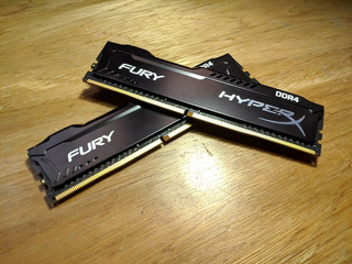 Memoria Ram Hyperx Fury 8gb 2400mhz 2 Sticks De 4gb C/u